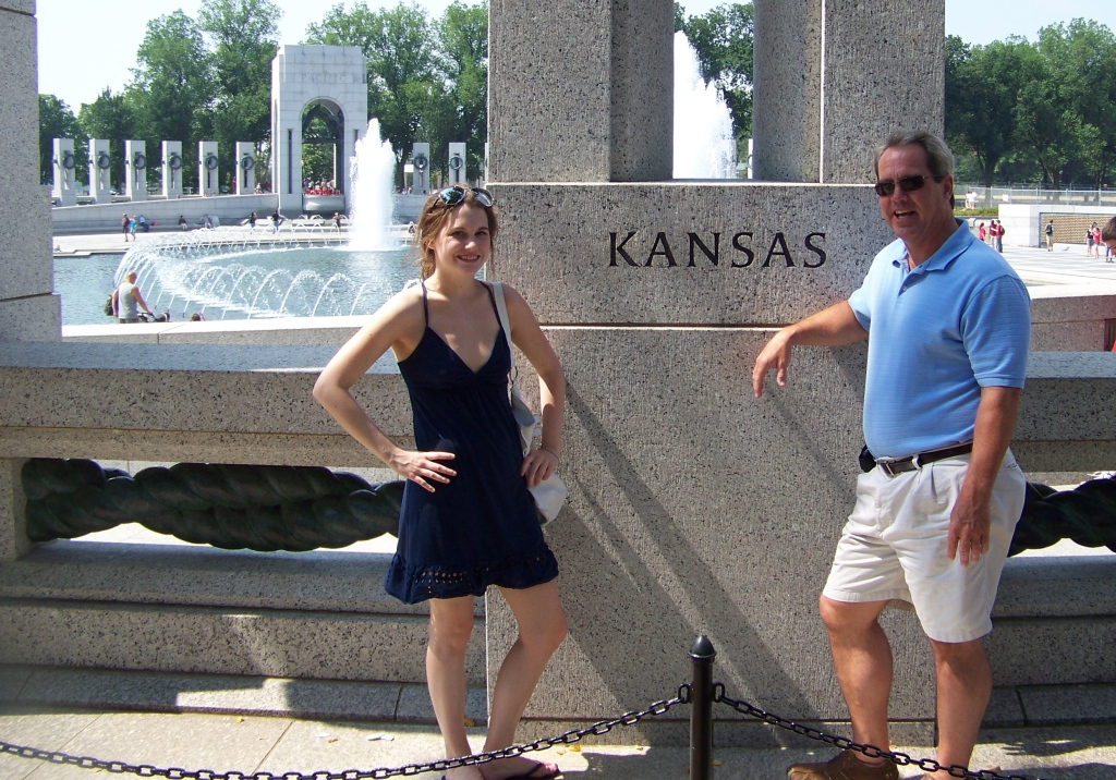 My dad and I in D.C. proud to be from Kansas! Thought you all would enjoy this travel-picture. D.C. is a great place to visit.