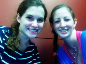 My friend, Brooke, and I on the first day of our Film Noir class.