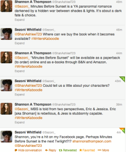 One part of my Interactive interview on Twitter with Sezoni Whitfield.
