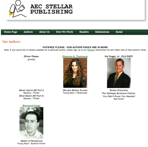 AEC Stellar Publishing: Authors Page