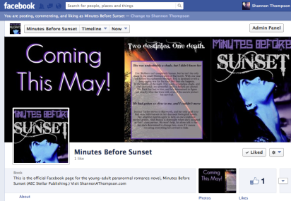"You can ""like"" Minutes Before Sunset on Facebook!"
