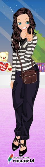 See? I used Roiworld (Via CandyDoll Maker on my last post) to make myself :D I enjoy using these sites all the time.