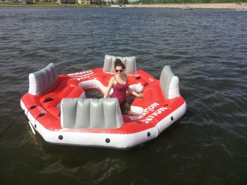 I'm on a boat...wait...a raft.