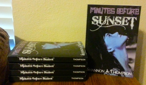 The five signed copies of Minutes Before Sunset are in the mail for the winners! Congrats!