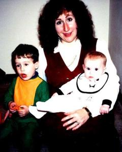 Happy Mother's Day. This is Halloween, 1992, with my mother, my brother, and I. I was a ghost :] Probably perfect considering my paleness.