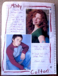 "This example page includes Mindy and Noah (originally named ""Colton"")"