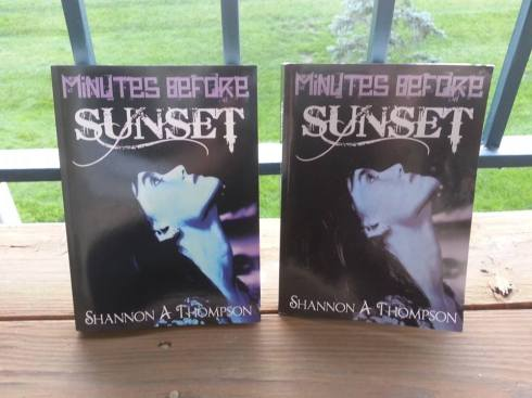 The new edition is on the left; the first edition is on the right. Sorry about the glare!