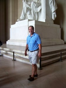 I just took my father to the airport for a trip to Alaska. Traveling is a great way to spark the writing flame too. This is from our trip to DC in 2010.