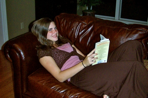 14 years old and reading as usual