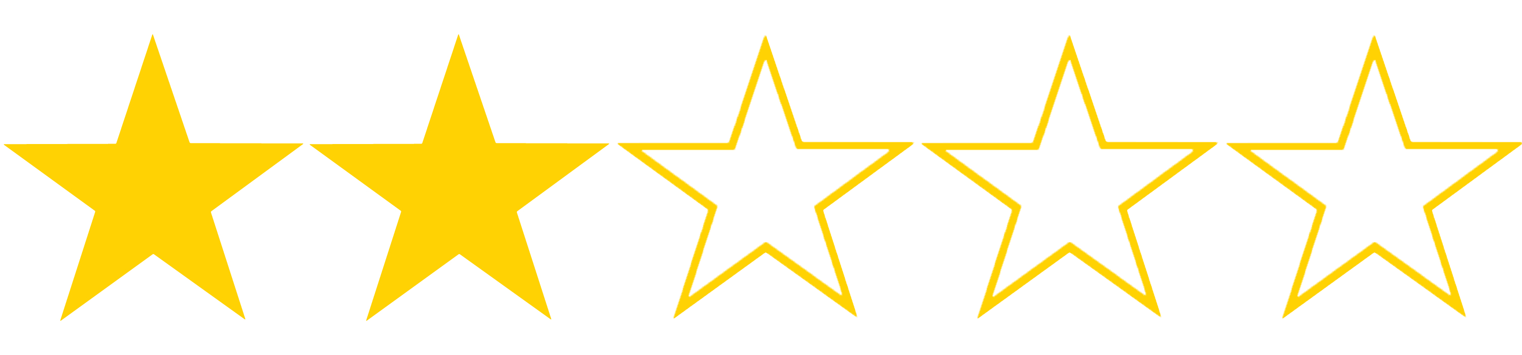 Billedresultat for star rating 2 stars