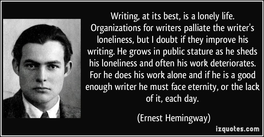 the life of a great novelist ernest hemingway Ernest hemingway biographyworld war i at the time of hemingway's graduation from high school, world all inspired his great novel a farewell to arms.