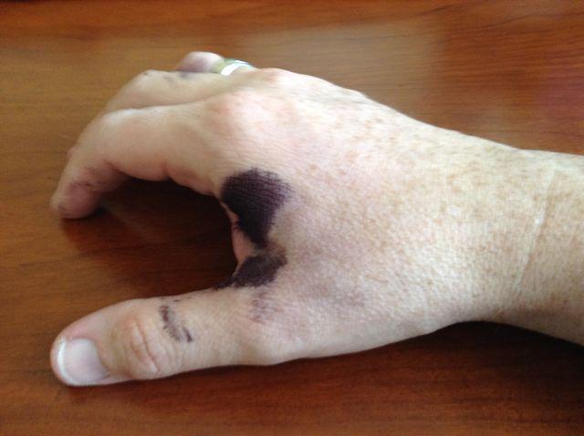 A writer's hand
