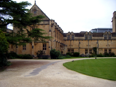 Mansfield College in Oxford, where I went to in 2012 for 2 conferences. It inspired my Fae character Dylan's estate in Clairvoyance Chronicles