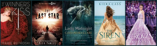 Here are five books I'm looking forward to that already have covers!