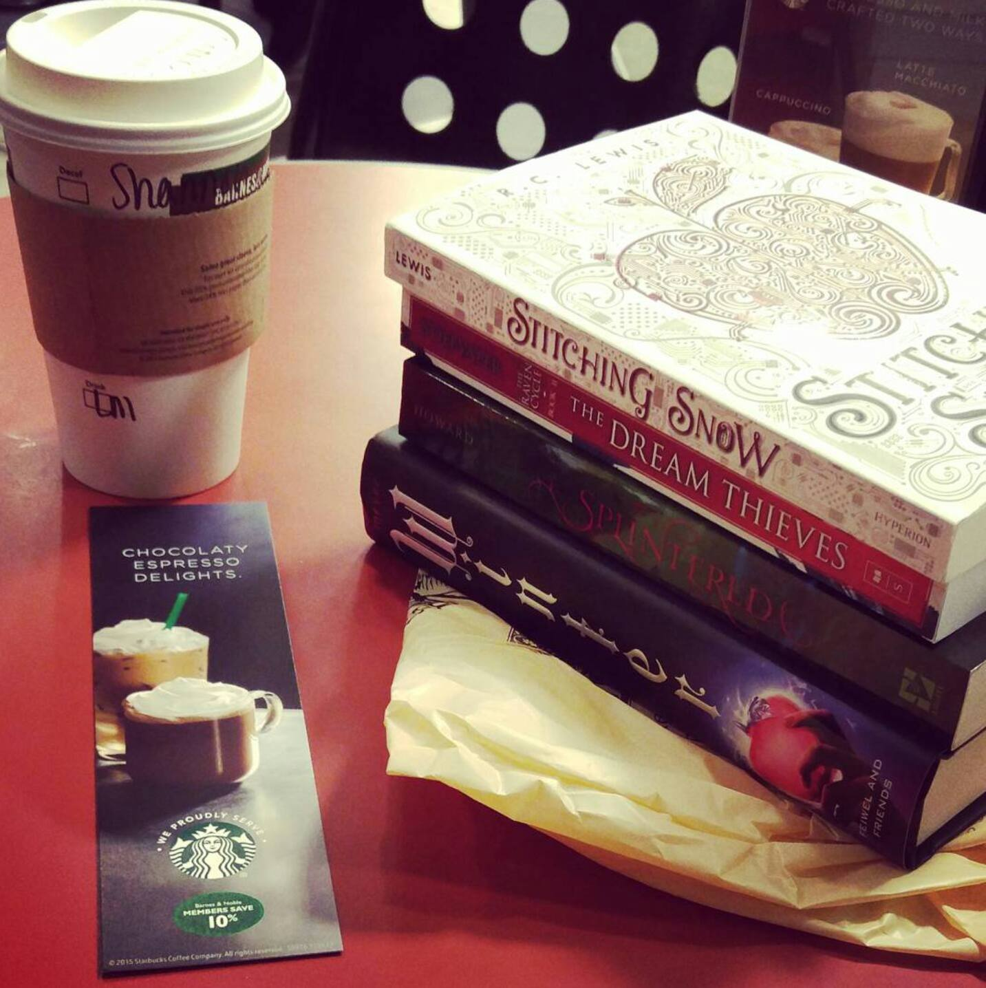 Book Haul from Episode 1 of Author in a Coffee Shop