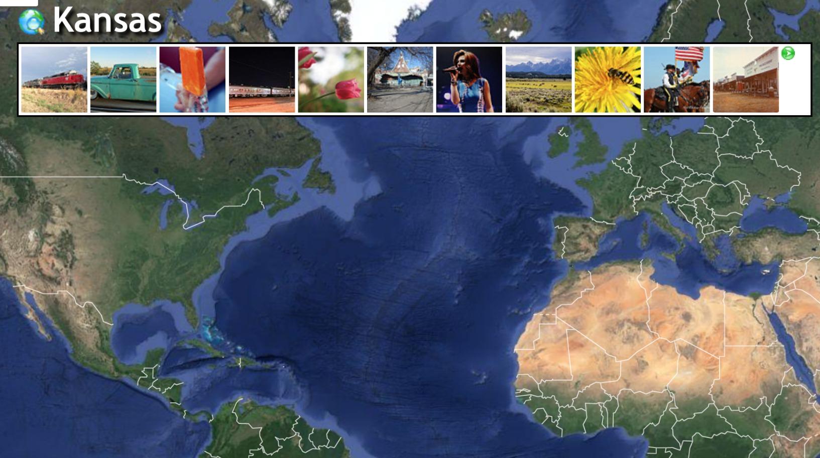 A screenshot of Earth Album
