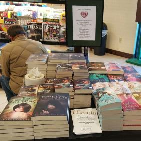 This is actually a photo from Barnes & Noble for an upcoming signing you can read about below.