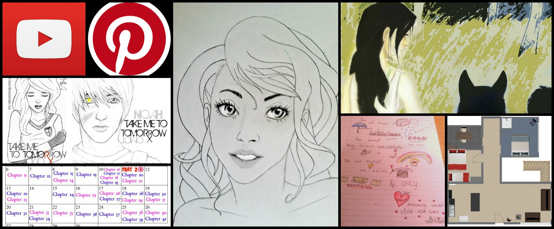 Example extras: fan art, calendars, and maps from my pages.