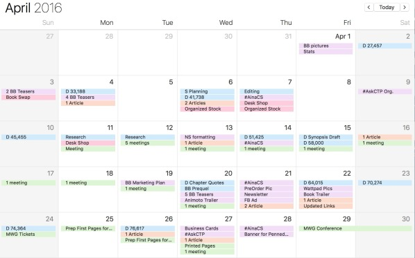 My Author Calendar