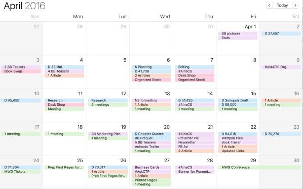 My Author Calendar