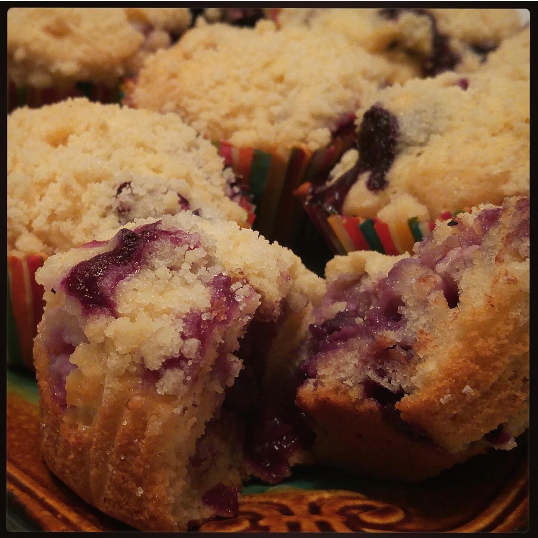 Cream cheese stuffed muffins