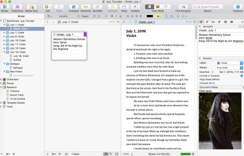 Scrivener Double Screen
