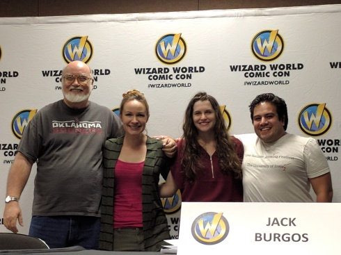 Wizard World Comic Con Villain Crew. From left to right, RA Jones, Genese Davis, Shannon A. Thompson, Jack Burgos.
