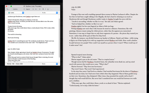 Quick Reference in Compose Mode on Scrivener